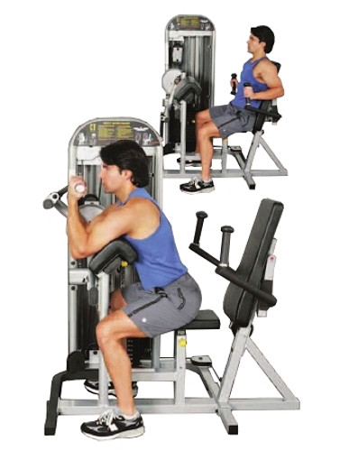 Inflight Fitness Bicep/Tricep w/ Back Shroud