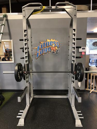 Half Rack Gym Package w/ Bumper Plates + Olympic Bar