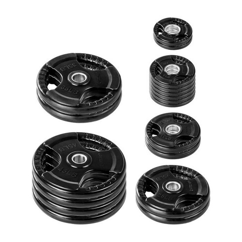 Lifeline 355 lb. Rubber Grip Olympic Plate Set- (LOCAL PICKUP ONLY)