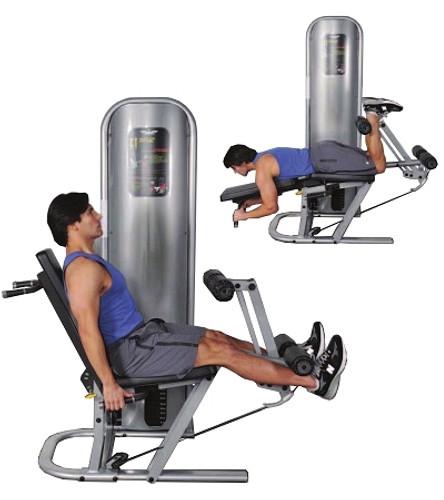 Inflight Fitness Leg Extension/Leg Curl W/Shrouds