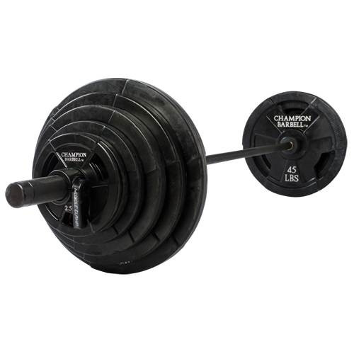 Champion Barbell 300lb. Rubber Coated Olympic Grip Plate Set- (LOCAL PICKUP ONLY)