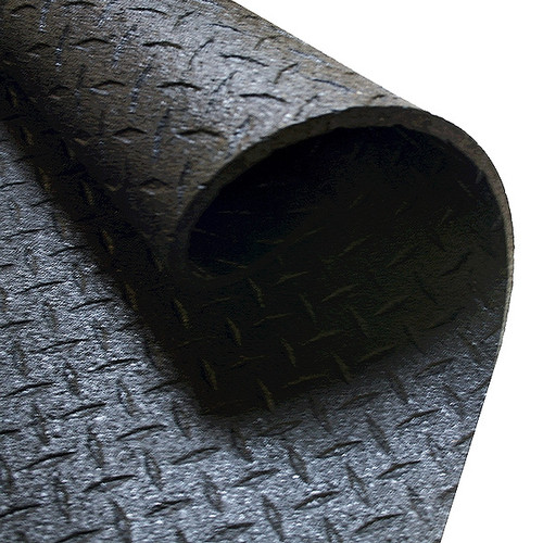 BULLYMAT 4x6 1/2 Inch BLACK RUBBER MAT- (Local Pickup Only)
