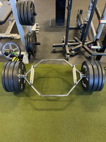 TKO Combo Hex Bar w/ 220 lb. Bumper Plate Set and Collars