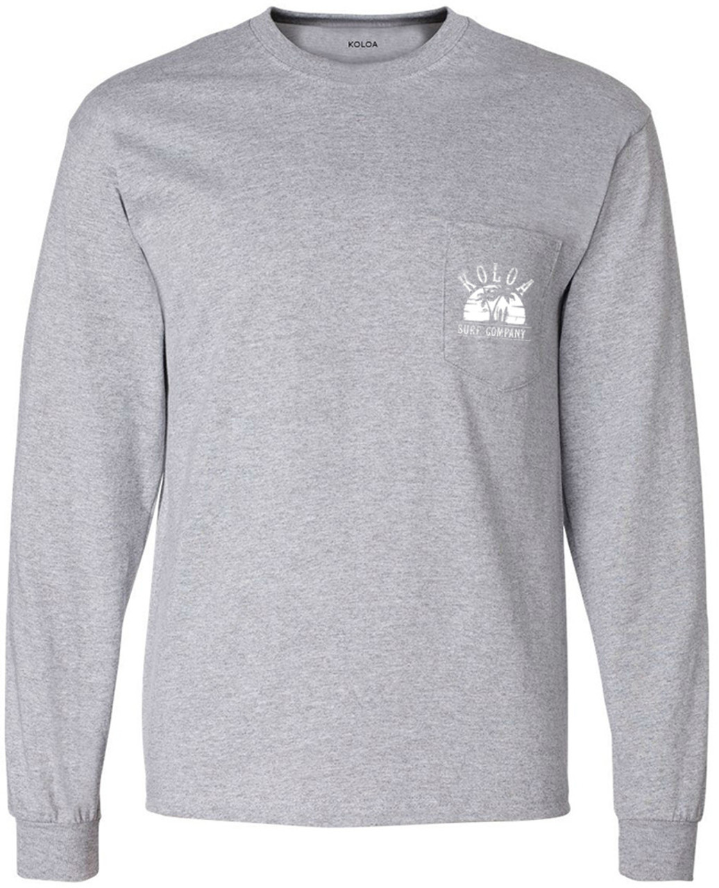 Hawaiian Palm Tree and Sea Turtle Adult Mens Sports Long Sleeve Sweater T-Shirts