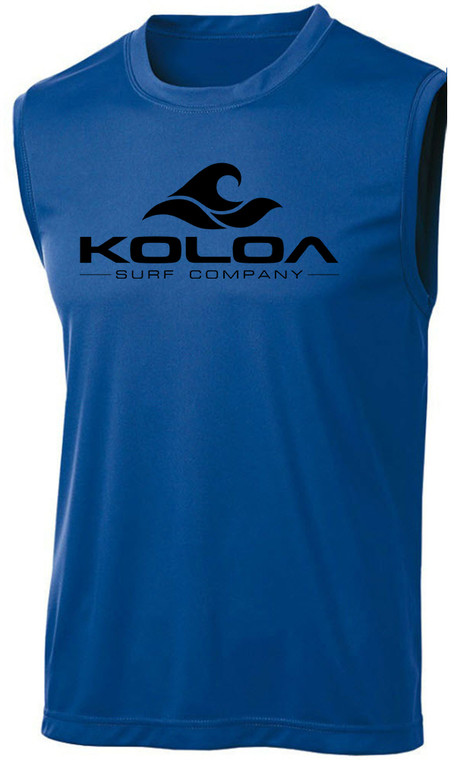 Koloa Surf Classic Wave Logo Moisture Wicking Sleeveless T-Shirts Sizes XS-4XL