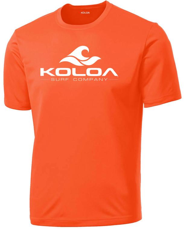 Neon Orange with White logo