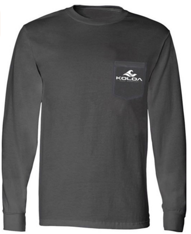 Charcoal front / White logo