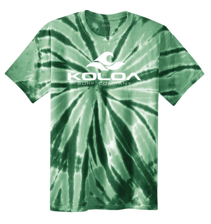 Forest Green tie-dye / White logo