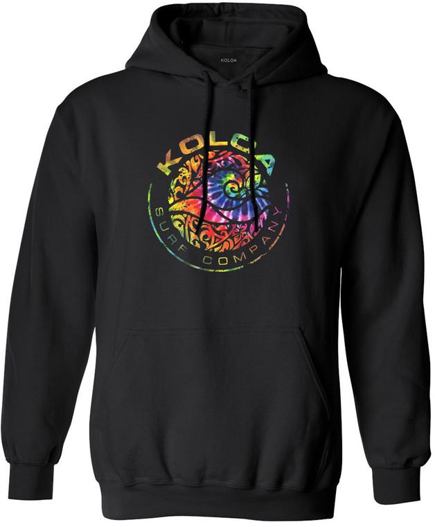 Koloa Rainbow Tie-dye Circle Wave Hoodie