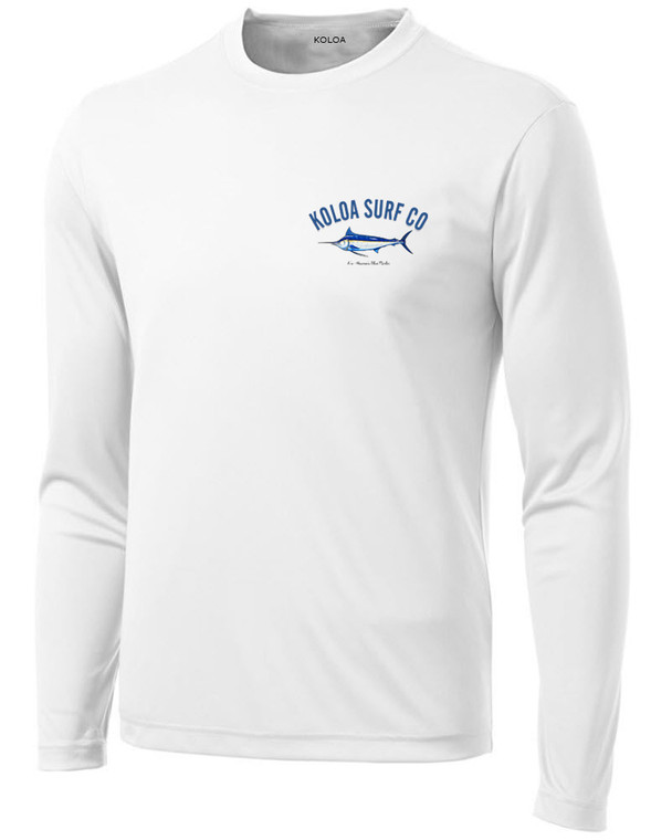 Koloa Blue Marlin Moisture Wicking Long Sleeve