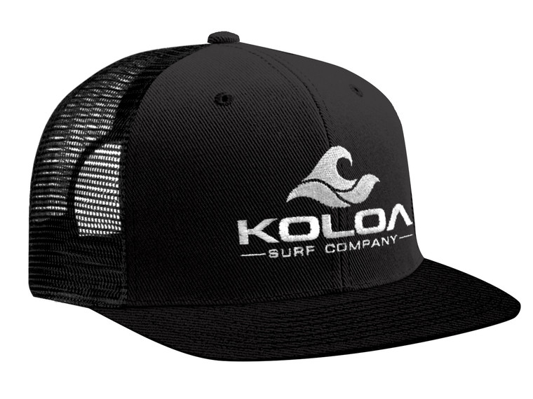 Koloa Surf Premium Embroidered Classic Wave Logo Mesh Snapback Trucker Hat
