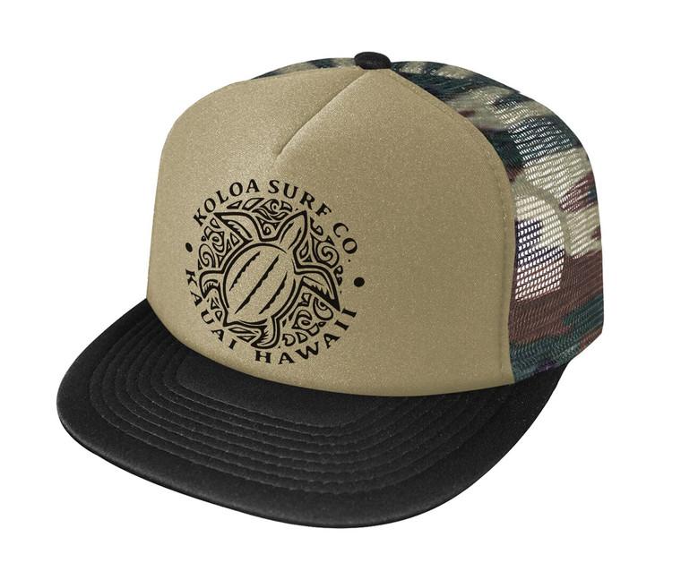 Koloa Hawaiian Turtle Honu Foam Trucker Hat