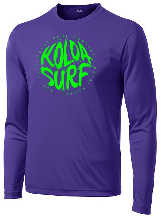 Purple / Green logo