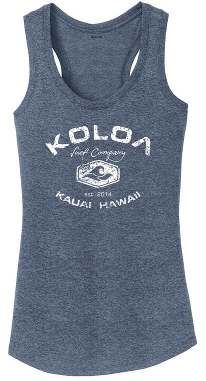 Koloa Surf Ladies Vintage Arch Logo Heathered Tank Top