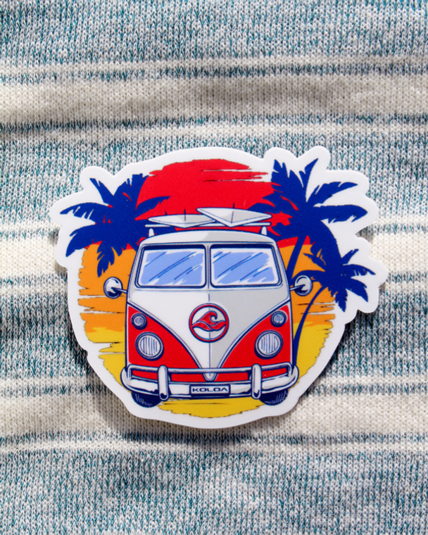 Koloa Surfer Van Sticker