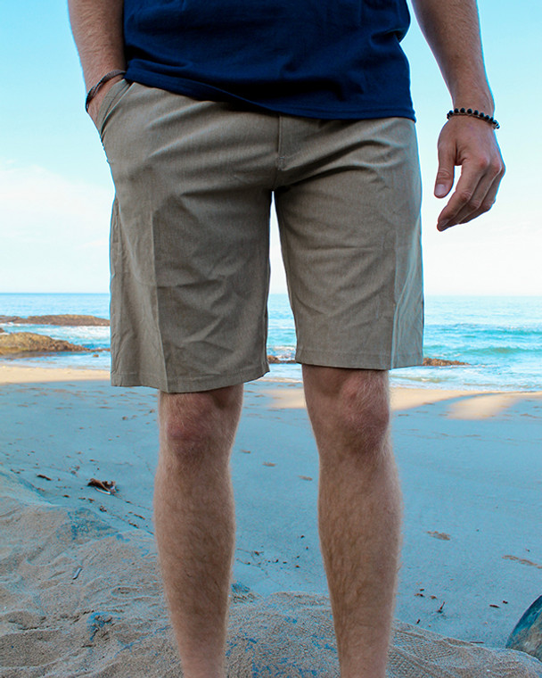 Koloa Hybrid Shorts- Khaki Heather