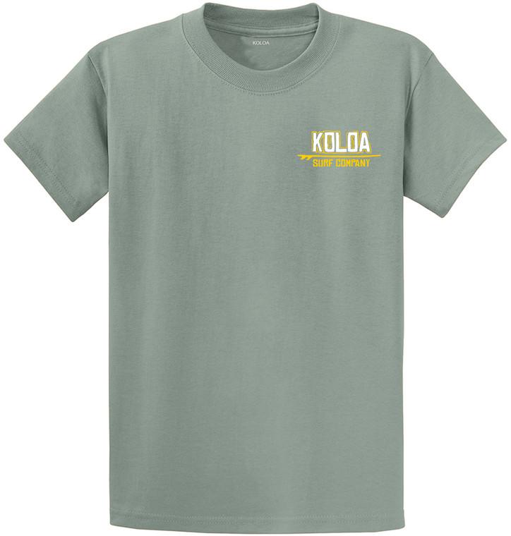 Stonewashed Green- Koloa Stylized Surfboard Youth T-Shirt