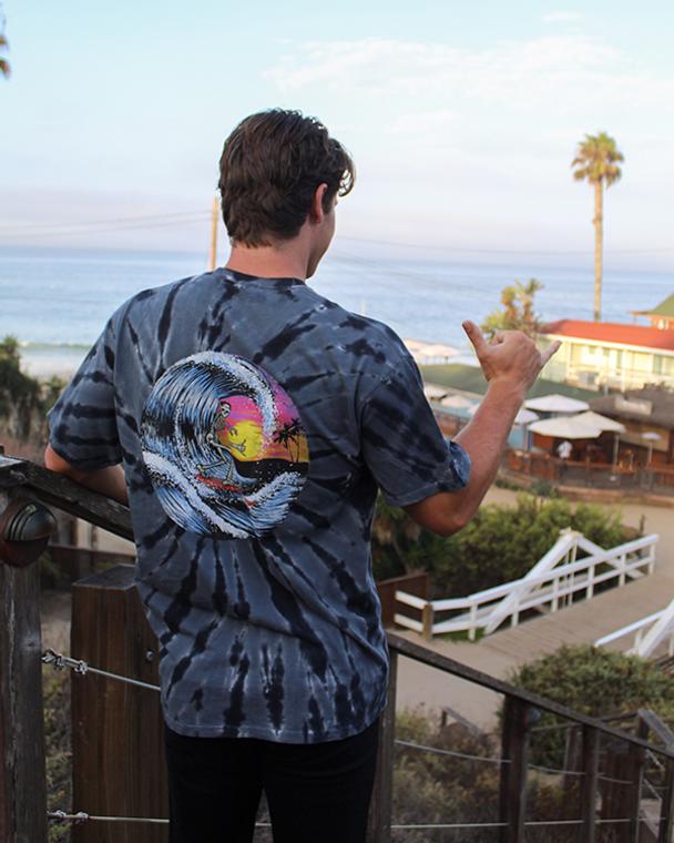 Koloa Spooky Surfer Tie-Dye T-Shirt
