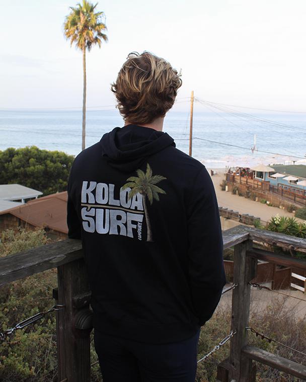 Koloa Endless Fleece Hoodie- Black