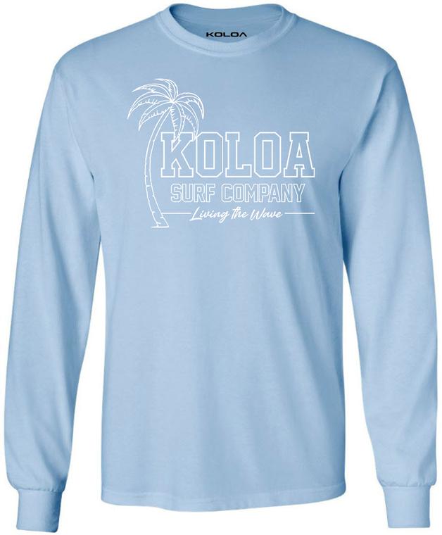 Koloa Breezy Long Sleeve T-Shirt- Light Blue