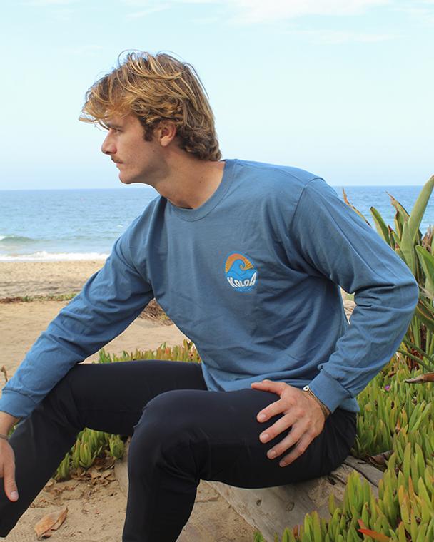Koloa Sunbeam Long Sleeve T-Shirt- Indigo