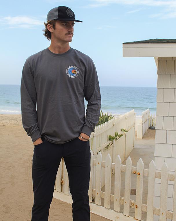 Koloa Dusk Long Sleeve T-Shirt- Charcoal