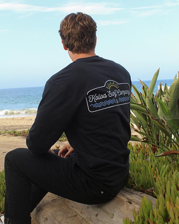 Koloa Original Sun Long Sleeve T-Shirt- Black