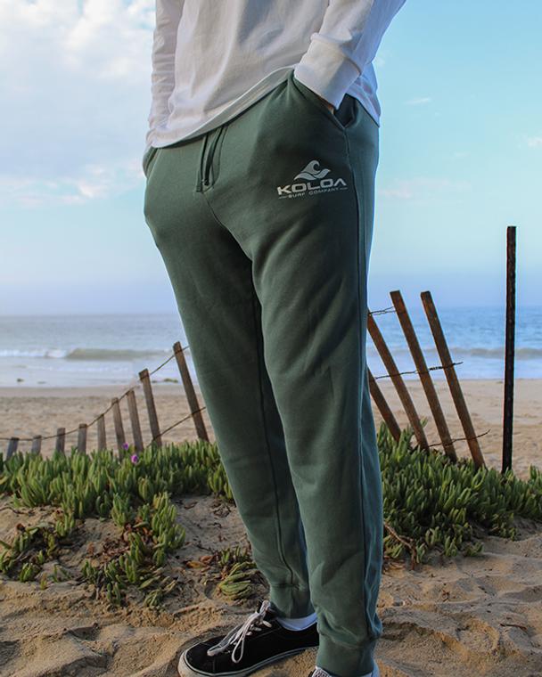 Koloa Classic Wave Fleece Sweatpants- Pigment Alpine Green