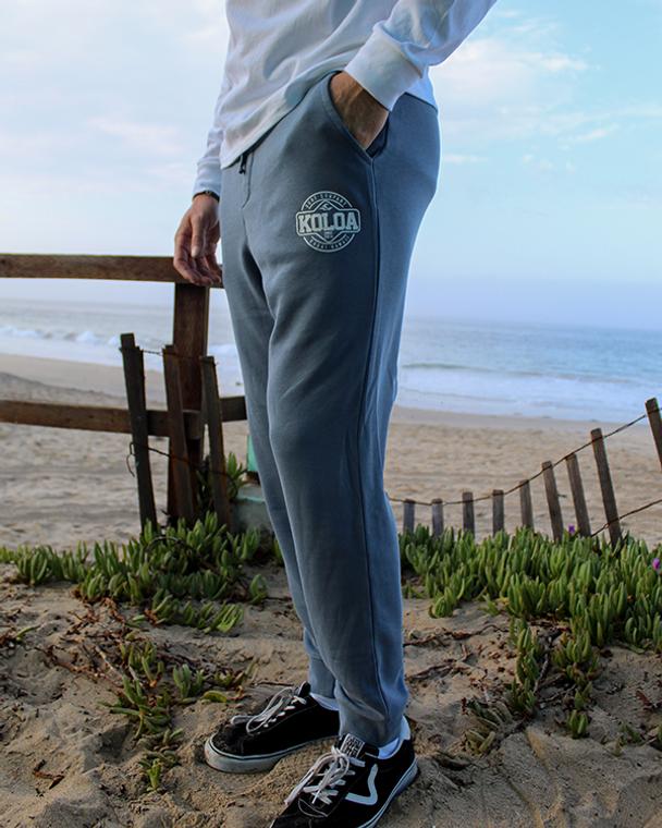 Koloa Dawn Patrol Fleece Sweatpants- Pigment Slate Blue
