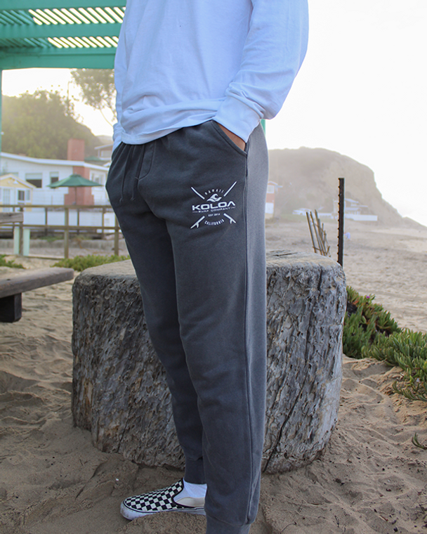 Koloa X Boards Fleece Sweatpants- Pigment Black
