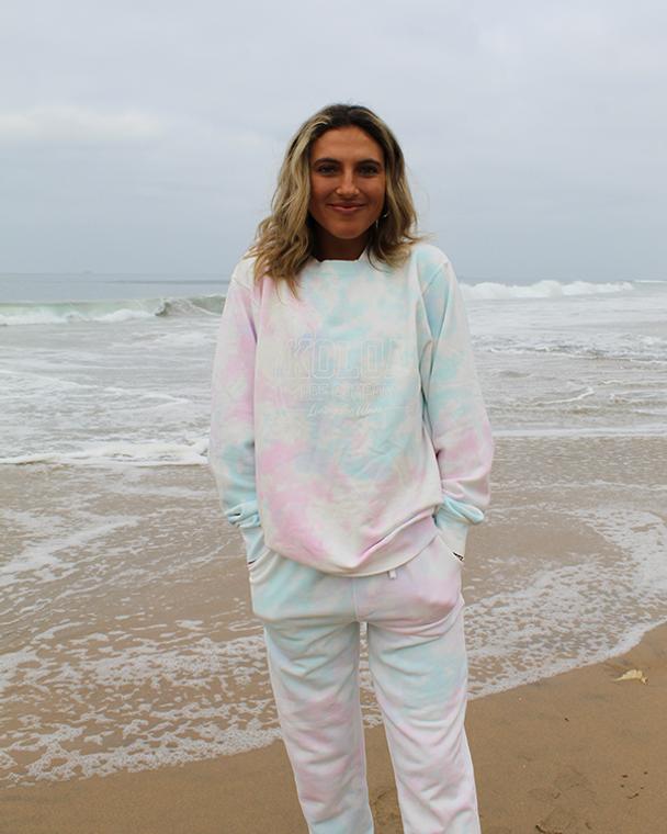 Koloa Breezy Tie-Dyed Sweatshirt- Tie Dye Cotton Candy
