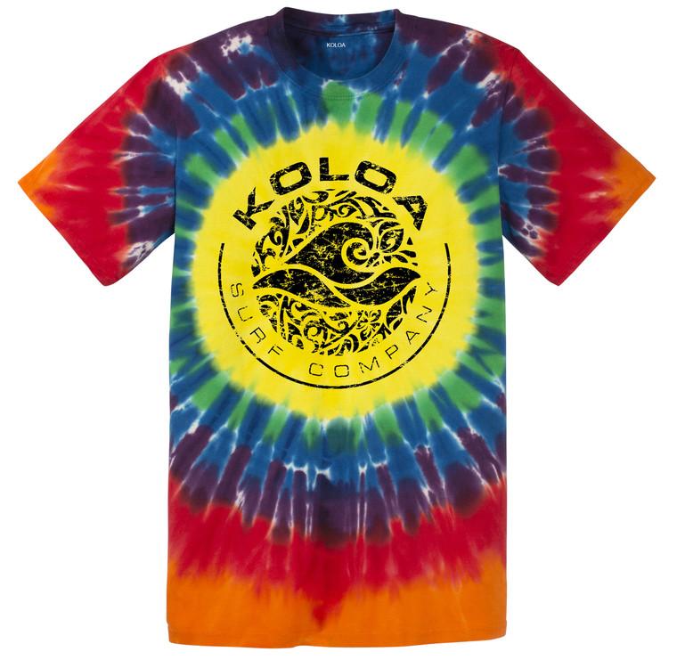 Koloa Surf Sunshine Tie-Dye Circle Logo T-Shirts