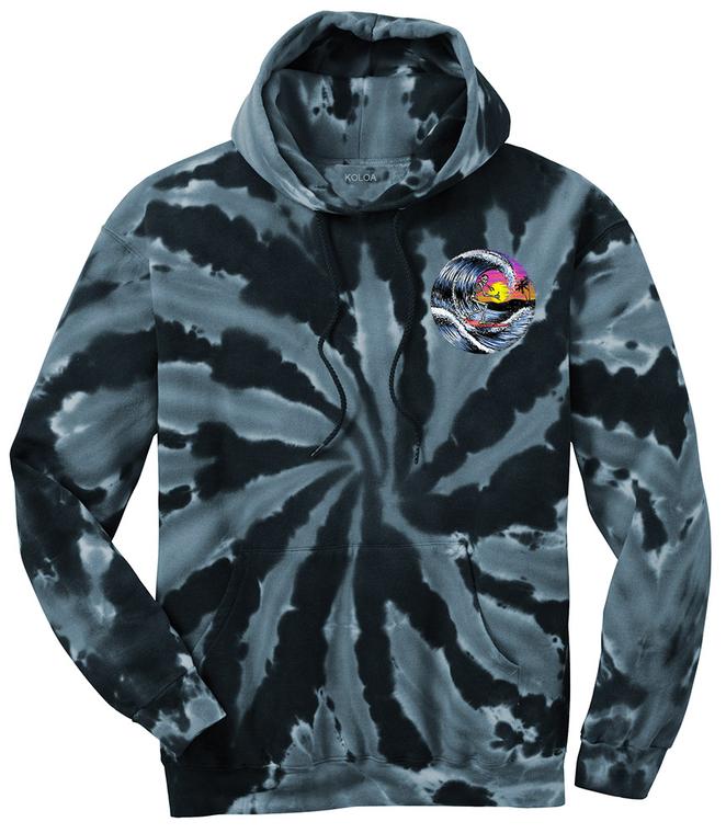 Koloa Spooky Surfer Tie-Dye Hoodie
