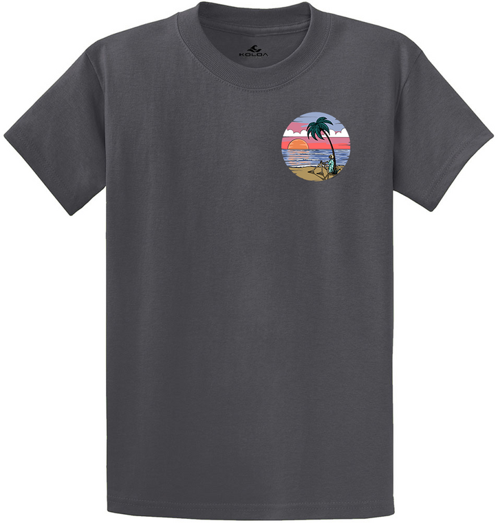 Koloa Skeleton Palm Heavyweight T-Shirt- Charcoal