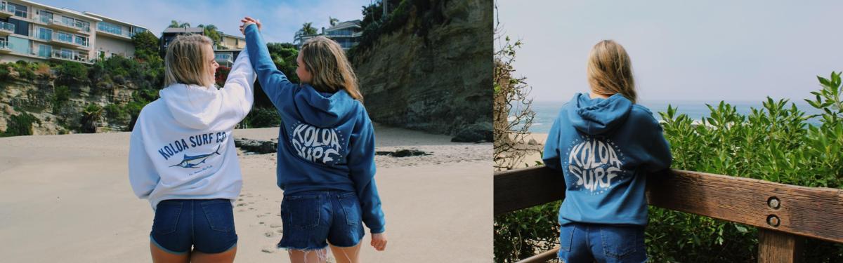 KOLOA SURF COMAPNY WOMENS SWEATSHIRT & HOODIES