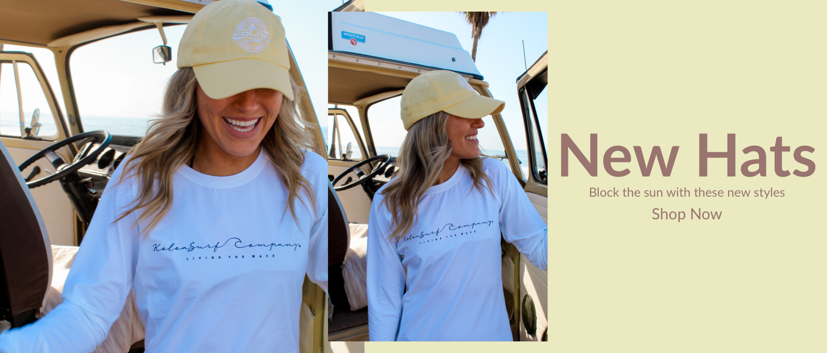 New Hats... Block the sun with these new hat styles... shop now