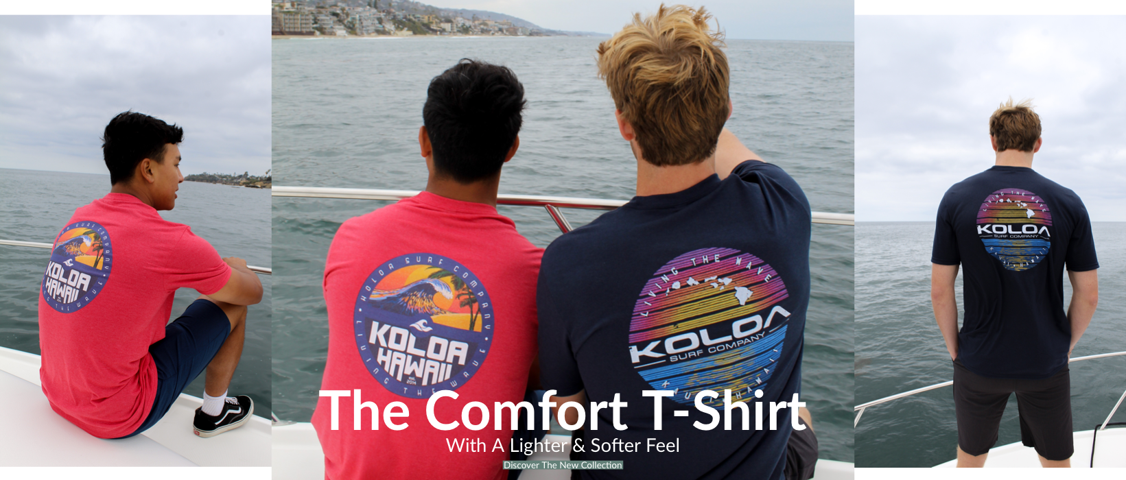 The Comfort T-Shirt. With A Lighter And Softer Feel. Discover The Collection Now.