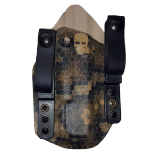 Short Order Tuckable Inside the Waistband (TIWB) Holster - The Tango - Front - HexCam Wasteland