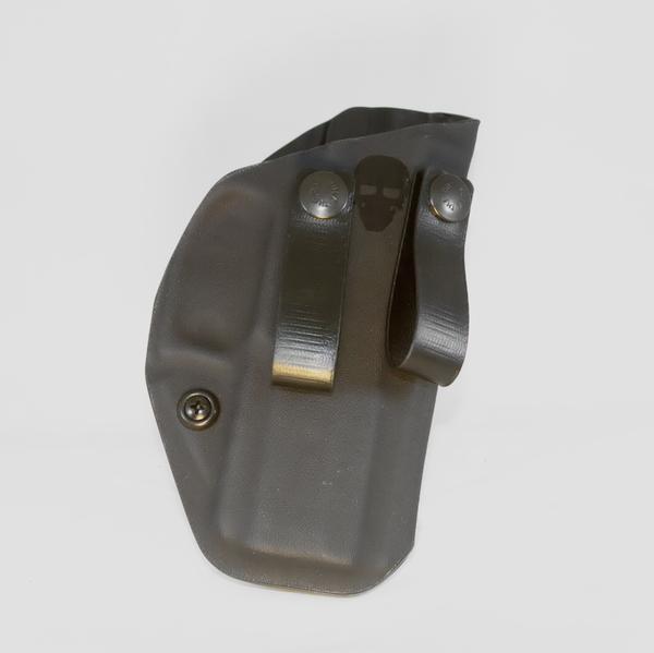 Custom Kydex Inside the Waistband (IWB) Holster - Front - Black