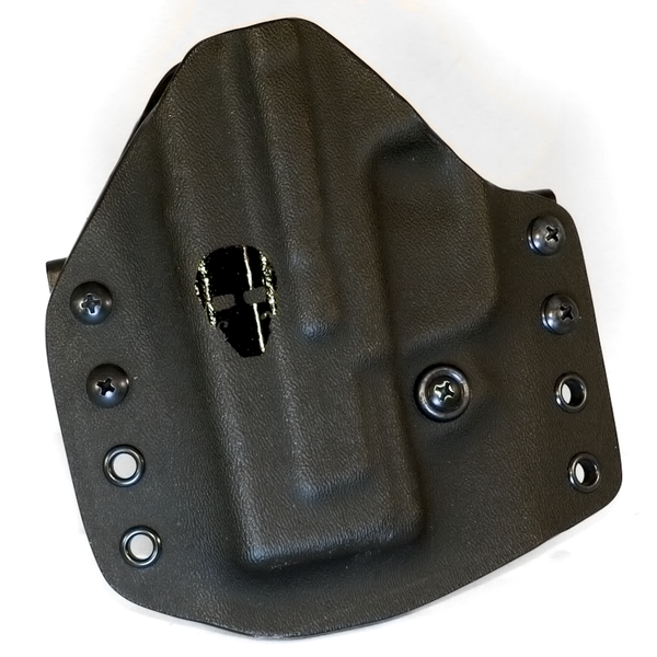 Custom Kydex Outside the Waistband (OWB) Holster - Front - Black
