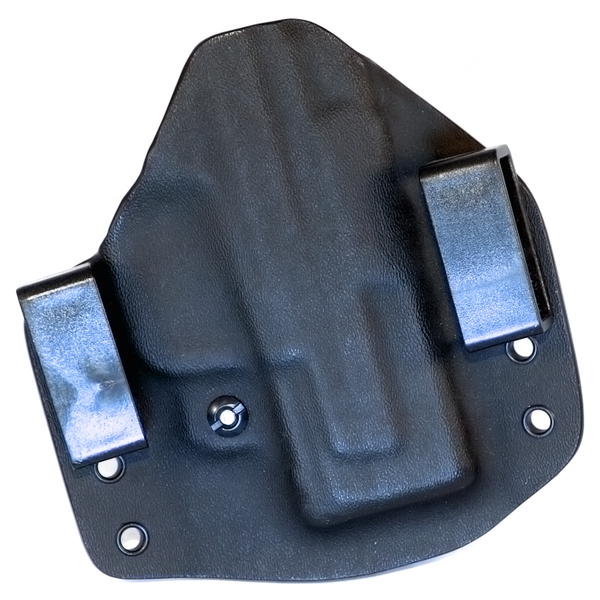Custom Kydex Outside the Waistband (OWB) Holster - Back - Black