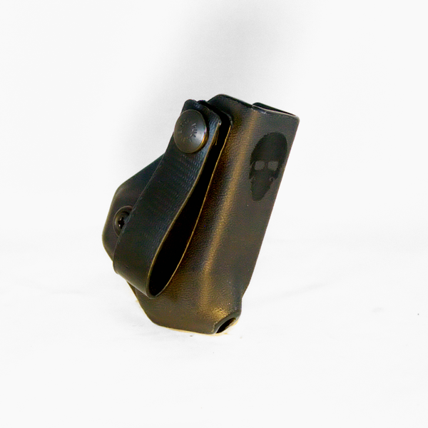 Custom Kydex Mag Carrier - Inside the Waistband (IWB) - Front - Black