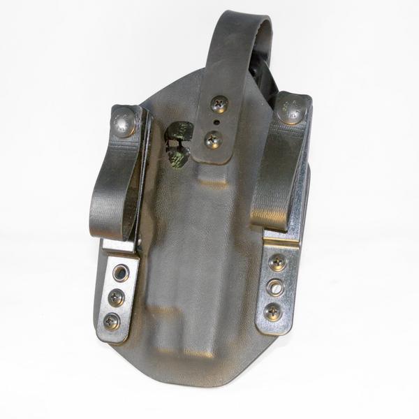 Custom Tuckable Inside the Waistband (TIWB) Holster - Front - Black - Thumb Break
