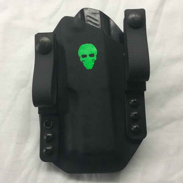 Custom Tuckable Inside the Waistband (TIWB) Holster - Front - Black
