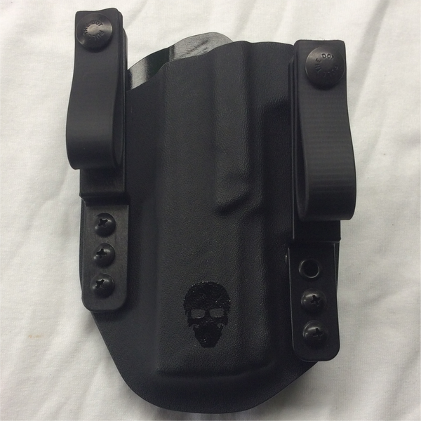 Custom Tuckable Inside the Waistband (TIWB) Holster - Front - Black - Left Hand Draw