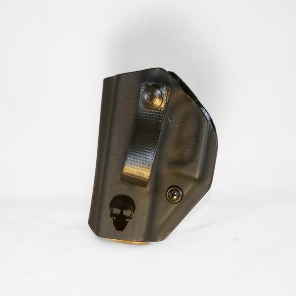 Custom Kydex Open-Bottomed Appendix (AIWB) Holster - The Loki - Front - Black
