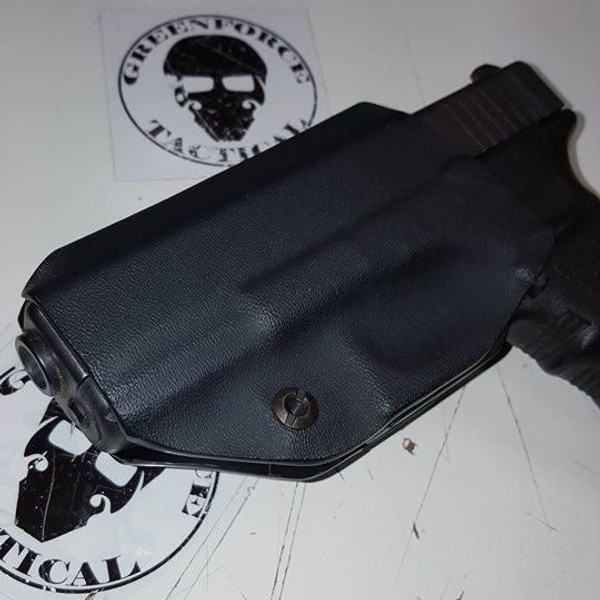 Custom Kydex Open-Bottomed Appendix (AIWB) Holster - The Loki - Back - Black