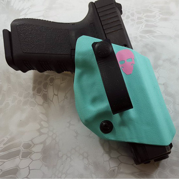 Custom Kydex Open-Bottom Holster - DB5K - Front - Tiffany Blue - G19