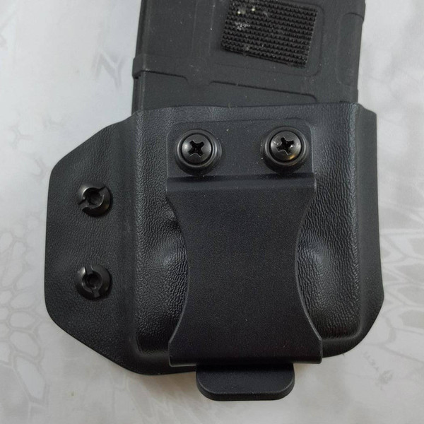 Custom Kydex AR Mag Carrier - The P-Mike - Back - Black