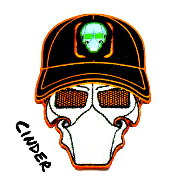 Cinder Orange Ball Cap Logo Patch with GFT Ranger Eye Patch